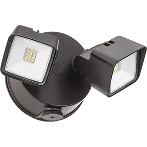 Twin Head Dusk to Dawn Adjustable Outdoor Integrated LED Security Light, Square Dark Bronze, Gen 2