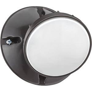 Single Head Outdoor LED Security Light, Round Dark Bronze