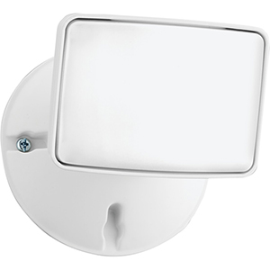 Single Head Outdoor LED Security Light, Square White