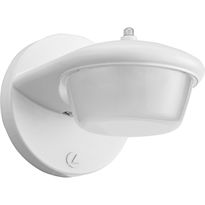 1-Light 3.2W Outdoor LED Wall Mount Sconce with Dusk to Dawn Photocell in White, Gen 2
