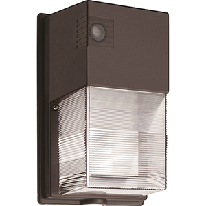 Bronze Dusk to Dawn Integrated Outdoor LED Wall Pack, 25 Watts, 1,475 lumens, 50K Hours - Gen 2