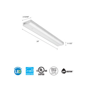 UCEL 24IN 30K 90CRI SWR WH M6 24 Inch White LED Linkable Cabinet Light 3000K