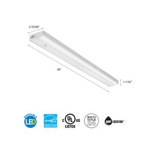 UCEL 36IN 30K 90CRI SWR WH M6 36 Inch White LED Linkable Cabinet Light 3000K