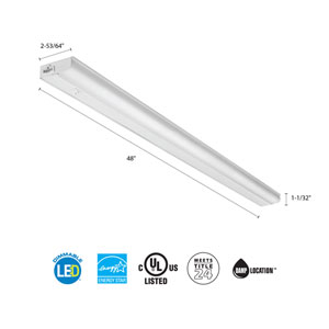 UCEL 48IN 30K 90CRI SWR WH M6 48 Inch White LED Linkable Cabinet Light 3000K