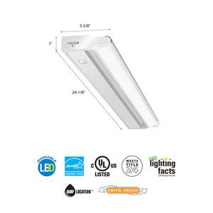 UCLD 24IN 30K 90CRI SWR WH M4 24 Inch White LED Linkable Cabinet Light Swivel Design 3000K