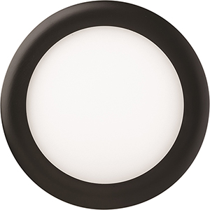 12.7W LED Ultra Thin 6 Inch Round Dimmable Recessed Ceiling Light 2700K, Warm White in Black