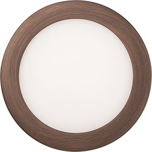 12.9W LED Ultra Thin 6 Inch Round Dimmable Recessed Ceiling Light 4000K, Bright White in Bronze