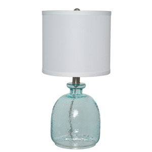 Blue 17-Inch One-Light Table Lamp