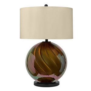 Madeline Painted Glossy Pearl Bronze LED Table Lamp