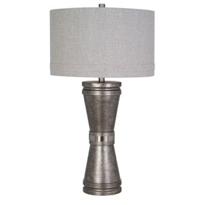 Nolan Painted Pewter LED Table Lamp