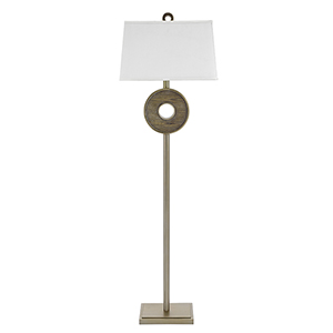 Owen Faux Wood and Champaign 64-Inch LED Floor Lamp