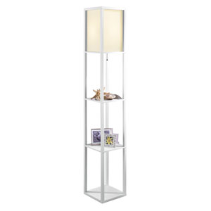 Finley Painted White LED Etagere
