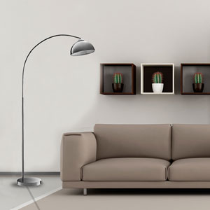 Chrome One-Light Floor Lamp