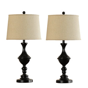 Kennedy Bronze Two-Light Set of Two Lamp Set