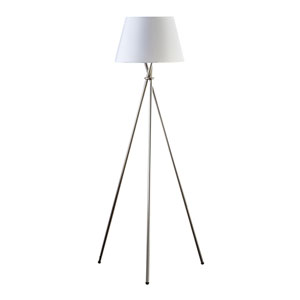 Brushed Steel 30-Inch One-Light Floor Lamp