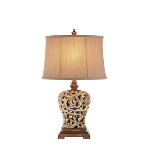 Soft Gold and Oil Rubbed Bronze 12-Inch LED Table Lamp