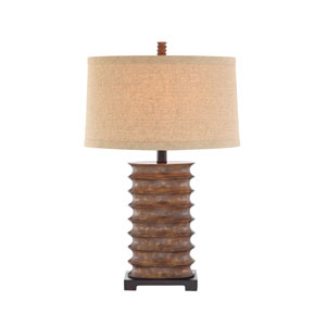 Rustic Bronze LED Table Lamp