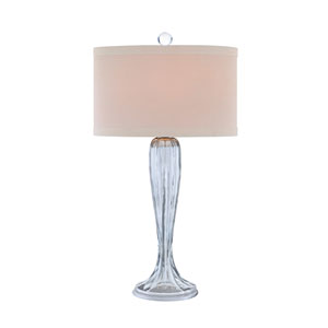 Brushed Nickel and Irradescent Glass LED Table Lamp
