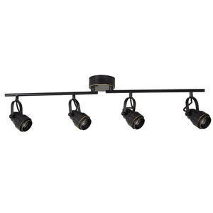 Black LED 32-Inch Four-Light Track Light