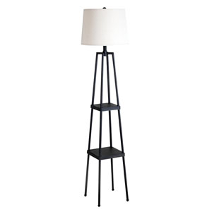 Painted Iron Distressed One-Light Floor Lamp