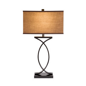 Black and Gold LED Table Lamp