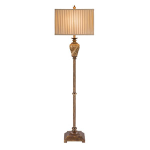 Paulina Antique Gold LED Floor Lamp
