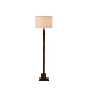 Sycamore Dark Faux Wood LED Floor Lamp