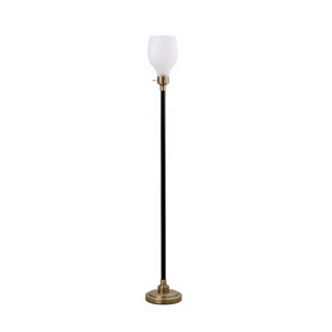 Cunningham Matte Black and Antique Gold LED Floor Lamp