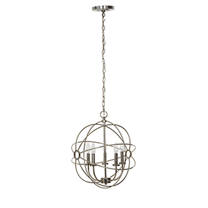 Beverly Chrome Five-Light Chandelier