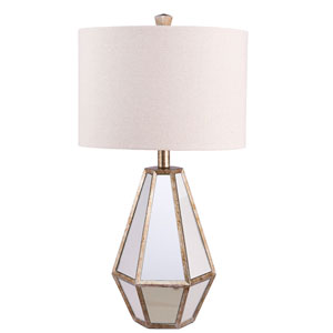 Antique Mirror One-Light Table Lamp
