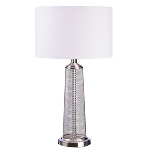 Brushed Nickel One-Light Table Lamp