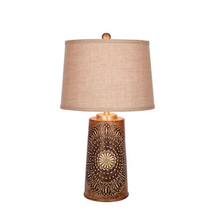 Painted Dark Wood LED Table Lamp