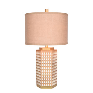 Dark Natural Wood and Lighter Natural Wood LED Table Lamp