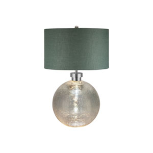 Brushed Nickel and Mercury Glass LED Table Lamp