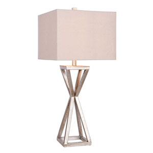 Antique Pewter 14-Inch LED Table Lamp