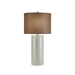 Painted Iridescent White LED Table Lamp