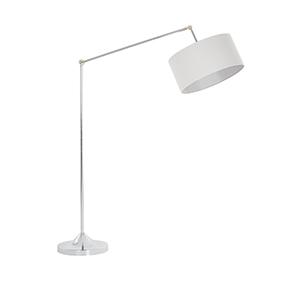 Levi Chrome One-Light Floor Lamp