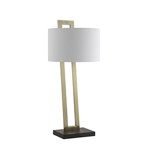 Carter Brass and Black One-Light Table Lamp