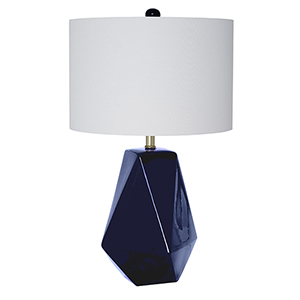 Micah Blue Ceramic One-Light Table Lamp