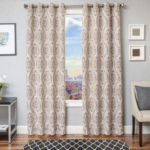 Archer Java 96 x 55 In. Diamond Jacquard Linen Panel
