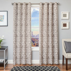Anthony Java 84 x 55 In. Scroll Jacquard Linen Panel