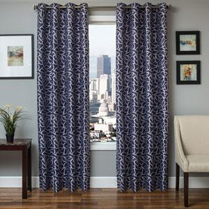 Brenner Blue Violet 96 x 55 In. Modern Tile Jacquard Panel