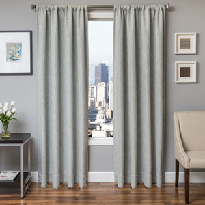 Blaine Spa 84 x 55 In. Tweed Like Solid Faux Linen Panel