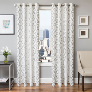 Taylor Haze 84 x 55 In. Geometric Embroidered Cotton Blend Panel