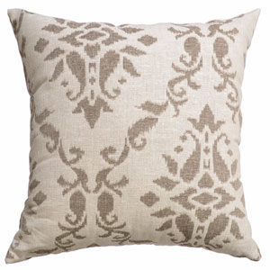 Anthony Java 8 x 8 In. Scroll Jacquard Linen Decorative Pillow