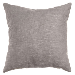 Blaine Platinum 8 x 8 In. Soft Tweed Linen Decorative Pillow