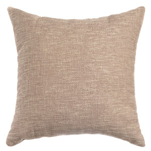 Blaine Sand 8 x 8 In. Soft Tweed Linen Decorative Pillow