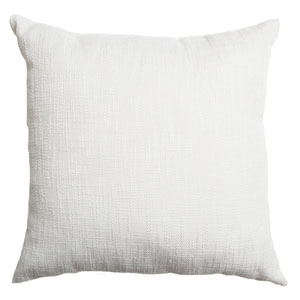 Blaine White 8 x 8 In. Soft Tweed Linen Decorative Pillow
