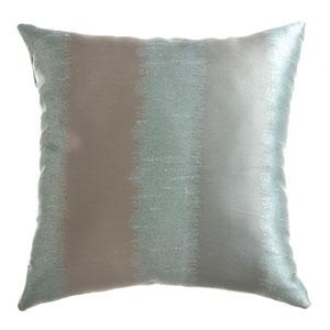 Dorian Ice Blue Platinum 8 x 8 In. Ikat Inspired Jacquard Decorative Pillow