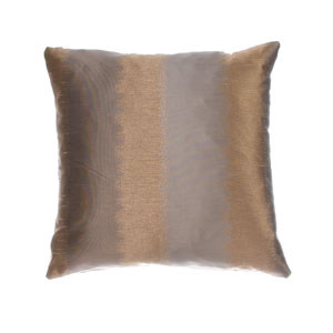 Dorian Latte Toffee 8 x 8 In. Ikat Inspired Jacquard Decorative Pillow